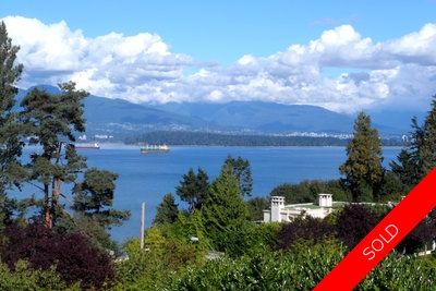 Vancouver home for sale, investment property, Point Grey, views of water, mountains & city, quiet setting.