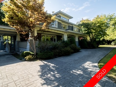 Vancouver home for sale in Shaughnessy on huge lot, over 21,000 sqft. 3 car garage parking, short drive to private schools, shops on South Granville.